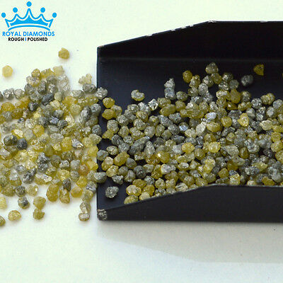 Fancy Yellow Grey Loose Natural Rough Diamonds uncut raw 2.20mm 5,10 carats Lots