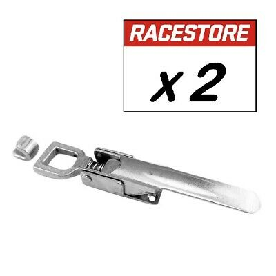 HORSE FLOAT H/DUTY OVER CENTRE LATCH (2 Pack)  - Zinc Plated Steel