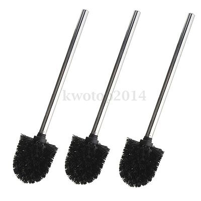 3pcs Replacement Stainless Steel WC Bathroom Cleaning Toilet Brush Head Holders