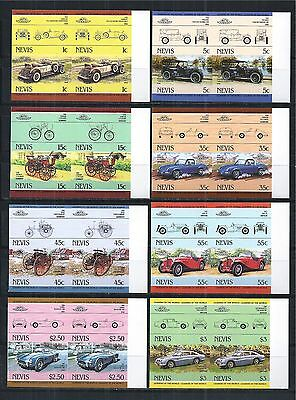 NEVIS 1984 MiNr: 148 - 163 ** IMPERF PAIRS PAARE CARS AUTOS OLDTIMER