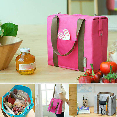 Portable Carry Insulated Thermal Cooler Lunch Box Tote Storage Bag Travel Picnic