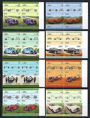 NEVIS 1985 MiNr: 232 - 247 ** IMPERF PAIRS PAARE CARS AUTOS OLDTIMER