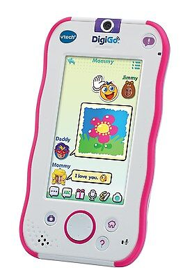 VTech DigiGo Electronic Toy Pink Touch Screen Camera Video Wi Fi Rechargeable Ne