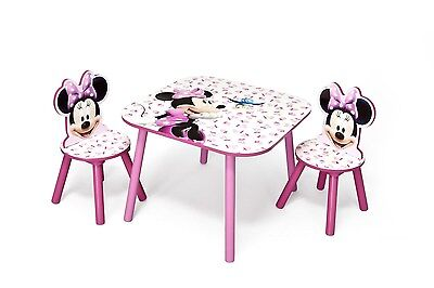 Disney Minnie Mouse Table and Chair Set For Baby Toddler New