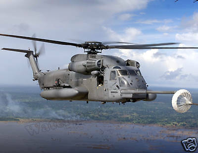 Photograph of a RAF Mildenhall MH-53M Pave Low IV Helicopter  8x10