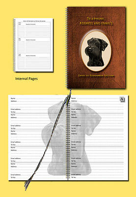 Schnauzer Dog Telephone, Address Book & Dates section, choice of 3 colours Gift