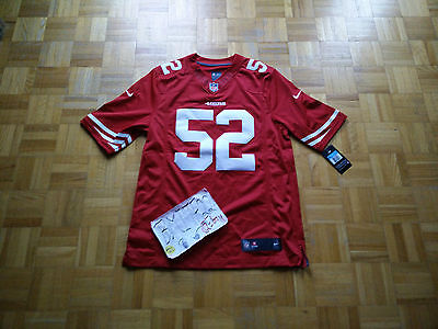 NWT Patrick Willis San Francisco 49ers NFL Nike Limited On Field Men Jersey M