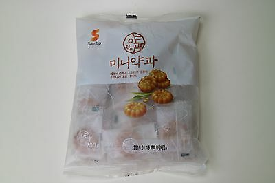 "Korean Traditional Food Sweet Wheatflour MINI Organic Kids & Adult Cookie ""약과"""