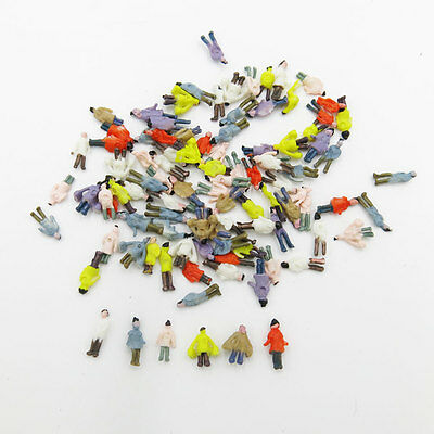 100 x 1:200 Painted People Figures Model Railroads Trains Railway Z Scale New