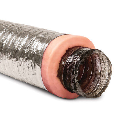 6-in x 25-Ft Insulated Flexible Round R6 Flex Duct Tube Heating/AC Vent Venting
