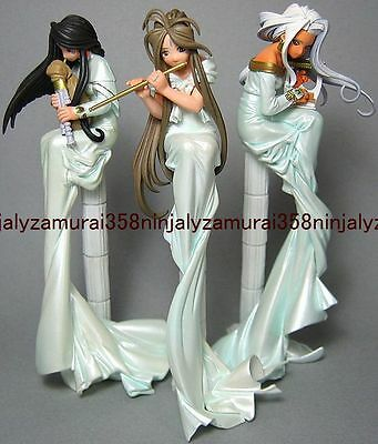 Ah My Goddess mini figure set of 3 Belldandy Urd Skuld Terzetto ver promo anime