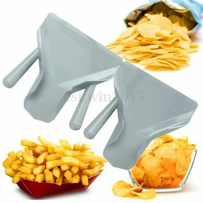 Useful Chip Scoop Food French Fries Shovel Fry Scoop Single/Double Handles Grip