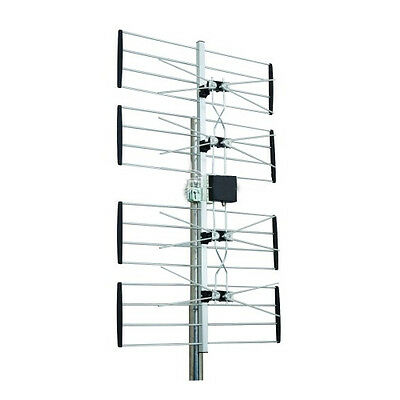 Digiwave UHF Outdoor HDTV Digital Antenna Up to 70 Mile Range Amplified 4 bay