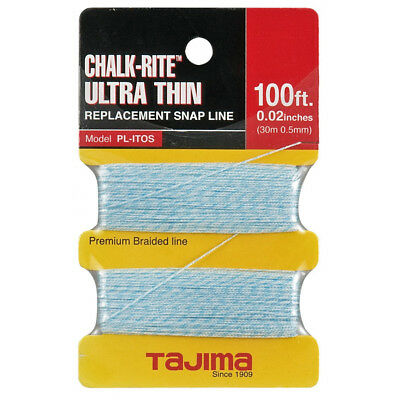 "Tajima 100 ft .02"" Ultra Thin Braided Chalk Line PL-ITOS New"