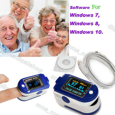 2016 New Fingertip Pulse Oximeter OLED USB Memory software 2-8 days delivery