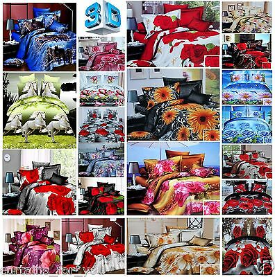 Mega Sale%% 3 Pcs Double King Bedding Set Printed 3D For You 20 Designs Amazing