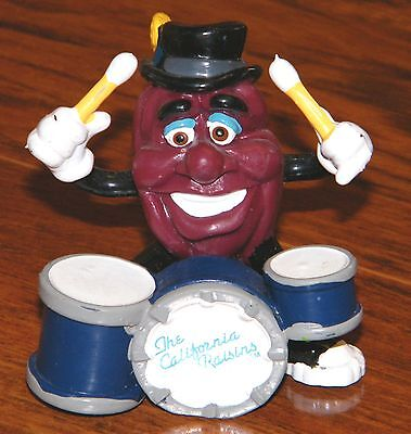 """Applause 1988 The California Raisins """"Drummer"""" Collectible PVC Figurine Only"""