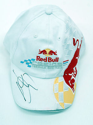 JENSON BUTTON Signed Autograph Red Bull Team CAP AFTAL COA World Champion