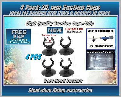 SUCTION CUPS 20.mm: PACK OF 4: FOR AQUARIUM: USE TO HOLD HEATERS & DRIP COVER
