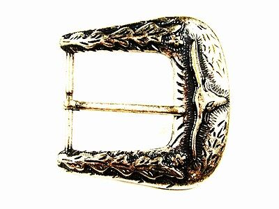 Western Cowboy Rodeo Longhorn Cow Silver Tone Belt Buckle Unbranded 103015