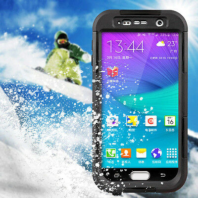 Premium Waterproof Shockproof Back Clear Case Hard Cover For Samsung Galaxy S6