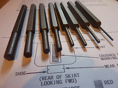 steel  punch set punches pry bar punch tools mallet hammer aircraft aviation