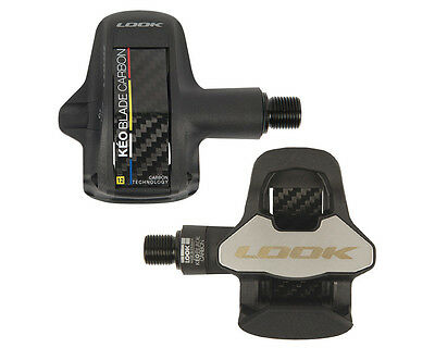 2017 Look Keo Blade Carbon chromo black pedals w/grey cleats set 12 Nm NEW!