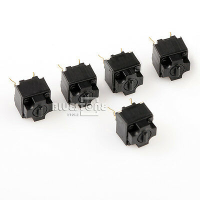 5 x Black Square Micro Switch For Mouse Black Button MS IE4.0 High Quality