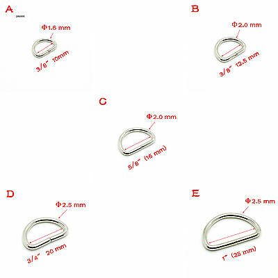 Heavy Duty Non Welded D Rings, Buckles for Webbing Hand Bags Leather Craft