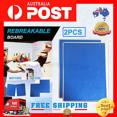 2 x Break Board – blue Karate Taekwondo - Rebreakable Boards