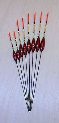Pack of 5 High Quality Pole Fishing Floats WE322 Various Sizes Available