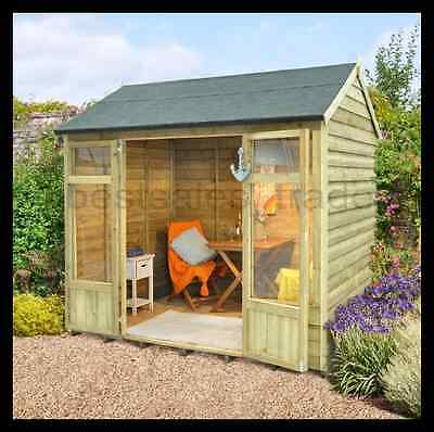 Garden Shed Summerhouse Outdoor House Wooden Log Cabin Patio Buildings 8x6ft New