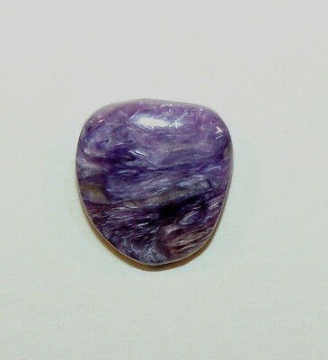 Charoite Free Form Cabochon 16x15mm with 4mm dome from Russia (9537)