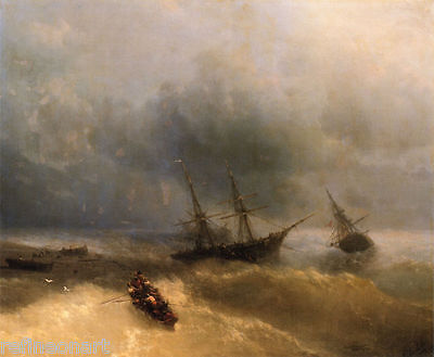Ivan Aivazovsky The Shipwreck Handmade Oil Painting repro