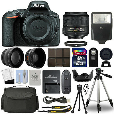 Nikon D5500 Digital SLR Camera + 18-55mm VR 3 Lens Kit +16GB Top Value Bundle