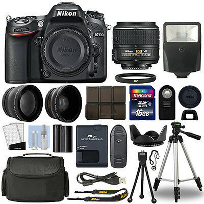 Nikon D7100 Digital SLR Camera + 18-55mm 3 Lens Kit + 16GB Top Value Bundle