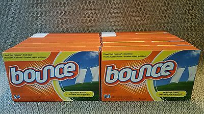 Lot 12 Bounce Outdoor Fresh Sheets Softener 34 Sheets, 408 Total