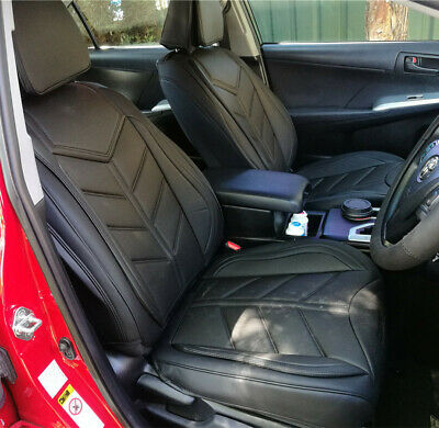 Leather Car Seat Covers Set Black Mazda 3 Holden VE VT Toyota Corolla Camry BMW