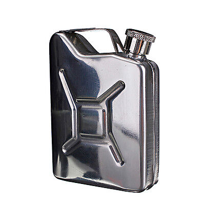 LD 5oz Stainless Steel Jerry Can Hip Flask Liquor Whisky Pocket Bottle + Funnel