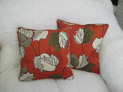 """Maple By Arthur Sanderson 1 Pair Of 16"""" Cushion Covers - Double Sided & Piped"""