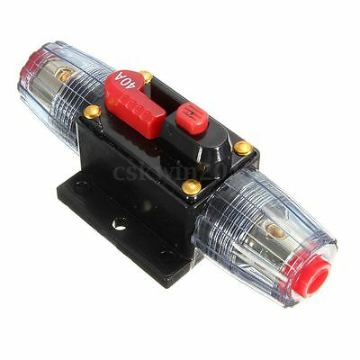 DC 12V Car Stereo Audio Board Circuit Breaker Inline Fuse Protector 40AMP 40A
