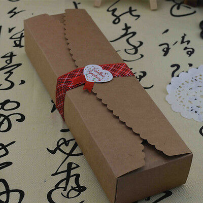 20Pcs 23x7x4cm Candy Kraft Paper Gift Boxes Chocolate Cake Xmas Party Favors Box