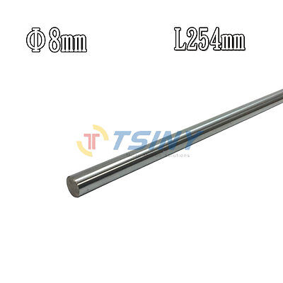 8mm 254mm Cylinder Liner Rail Linear Shaft Optical Axis accessories DIY 2PCS