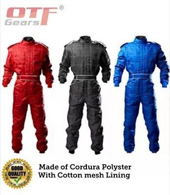 Go Kart Cordura Race Suit BLACK-RED-BLUE - Mega sale Offer Unbeatable Price