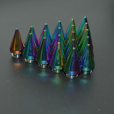 20Pcs Neo Chrome Spike For Aluminum 60Mm Extended Tuner Lug Nuts