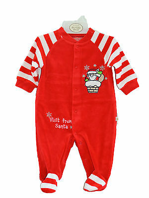 Baby Christmas All in One/babygrow/outfit - Visit from Santa