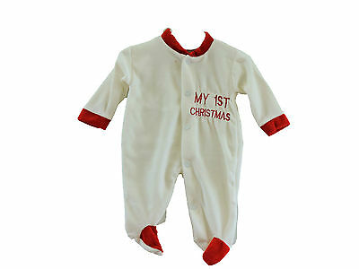 Small baby/premature My First Christmas All In One/babygrow sizes 3lb up to 12lb
