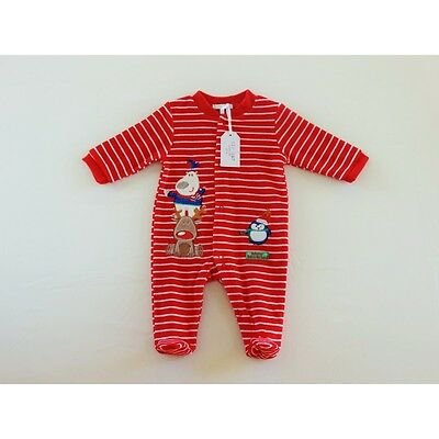 Baby velour Christmas Winter Wonderland all-on-one/babygrow/outfit