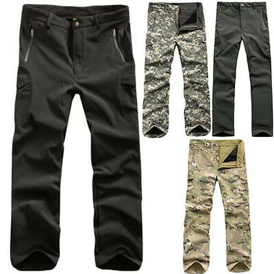 Mens Shark Skin Military Casual TAD Waterproof Soft Shell Outdoor Trousers Pants