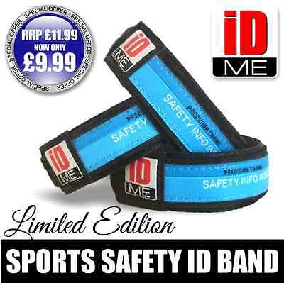 Adults Velcro Sports Safety ID Bracelet Medical Wristband marathon Running swim